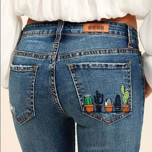 EMBROIDERED SKINNY JEANS 🌵